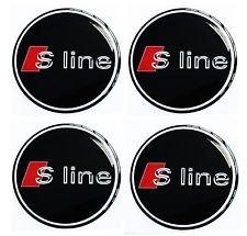S - Line ★4 Stück★ 55mm Aufkleber Emblem für Felgen Nabendeckel Radkappen