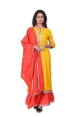 Neemiya Women Latest Design Solid Contrast Printed Or Zari