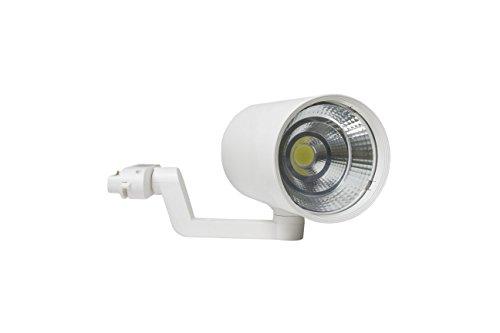 LineteckLED® E09.002.18BN Faro LED a binario 15W 4000K 220V 50Hz Rotazione a 360° Angolo luce 45°-65° Bianco