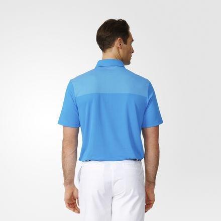 adidas 2016 Big Logo Dot Print Lightweight Mens Golf Polo Shirt Shock Blue/White Small -