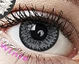 Farbige Kontaktlinsen Jahreslinsen grau ' Grey' dolly ohne Stärke COSPLAY