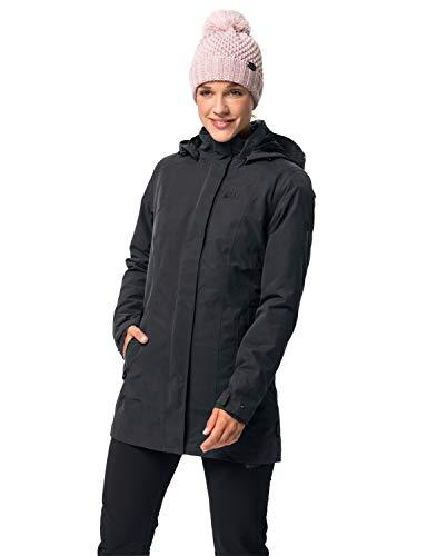 Jack Wolfskin Damen Madison Avenue Coat Mantel, Grau (phantom), M -