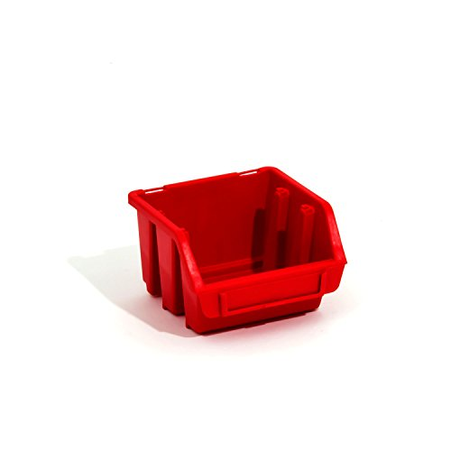 30 Stck. Ergobox Sortierkästen Stapelboxen rot Gr. 1 Kunststoff 116x112x75 mm Etikettenfach