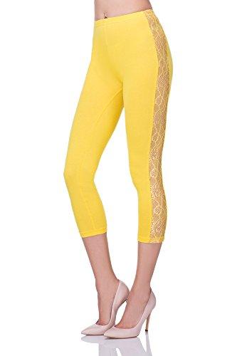 FUTURO FASHION Damen Leggings Gelb