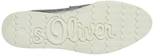 s.Oliver 24602, Mocassini Donna Argento (SILV.CRACK.MET 948)
