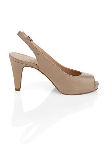 Damen Sandalette by Alba Moda Taupe