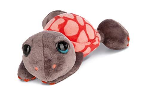 Nici 42914 Kuscheltier Schildkröte Snazzy, 25 cm, rot/braun