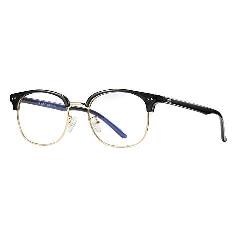 AQCSDF Anti-Blaue Brille Anti-Blau Brillengestell Fashion Brillen Metall Opt