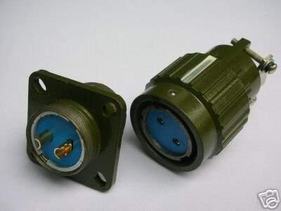 Ochoos F2P Militär Gold 2-poliger Twist-Stecker weiblich Stecker 2 Stück -