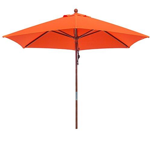 anndora 25001 Sonnenschirm Standard 2,5 m – 180 g/m²,-Form Rund Orange/Mandarin