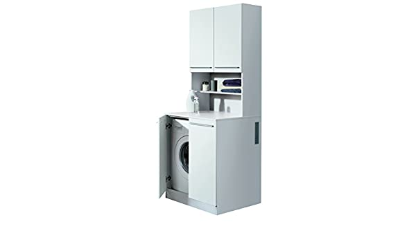Fackelmann waschmaschinen tower für waschmaschinen korpus farbe