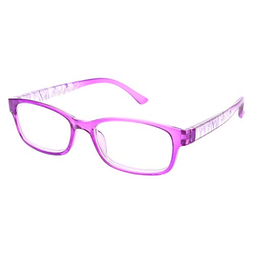Pennyninis Fashion Unbreakable Lesebrille Frauen Männer Ultralight Anti Fatigue Presbyopic - Lila
