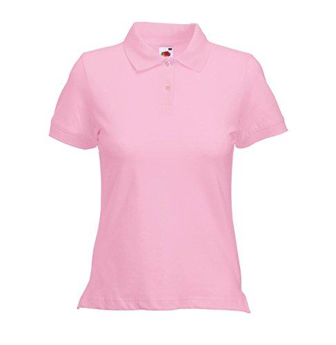 Camicia Polo Donna taglio femminile figura-abbracciare Poloshirt Light Pink