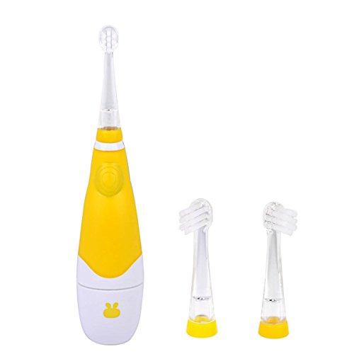 Ckeyin;Wasserdichte Elektrische Zahnbürste mit LED Licht + zwei austauschbare Pinselköpfe ( für 0-4 Jahre alt Baby )
