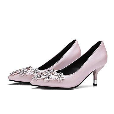 Talloni delle donne Primavera Estate Autunno Inverno Altro PU ufficio & carriera di feste ed abito da sera tacco a spillo Fiore Nero Rosa Pink