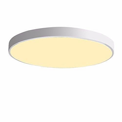 PANNN Runde Deckenlampe Ultra-dünne LED Deckenleuchte Modern Einfachheit Pendelleuchte Stärke 5 cm Kinder Deckenlampe für Wohnzimmer Schlafzimmer Kinderzimmer Restaurant Balkon Innenbeleuchtung, weiß, 50cm warmes - Hampton Deckenventilatoren