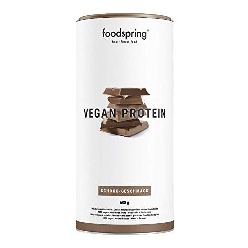 foodspring Protéine Végétale, Chocolat, 600g, 100% protéine végétale, Fabriqué en Allemagne