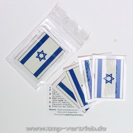 5 x Israel Tattoo Fan Fahnen Set - Israel temporary tattoo Flag (5) (Israel Flag-football)