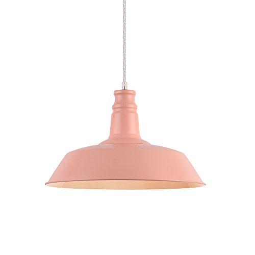 [lux.pro] Klassische Hängeleuchte Rosé E27 Pendelleuchte Hängelampe Deckenlampe