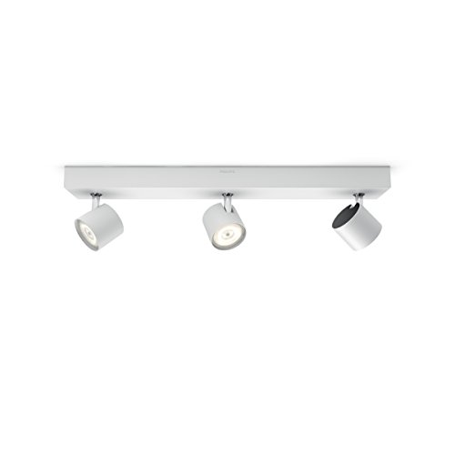 Philips Lighting Philips myLiving Star-Barra de Tres focos de Techo, LED Integrado,...