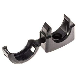 Adaptaflex Cable Clip Black Screw Nylon Conduit Clip, 28mm Max. Bundle
