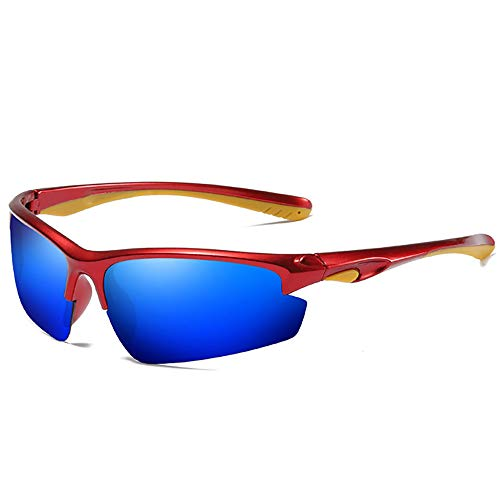 Y&SJ Sport polarisierte Sonnenbrillen, Männer Frauen HD UV400 Schutz Radfahren Sonnenbrillen Anti-Glare UV Half Frame Brille Frame-Exquisite Geschenkbox,E