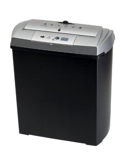Genie 250 CD Aktenvernichter, bis zu 7 Blatt, Streifenschnitt (Sicherheitsstufe P-1), mit CD-Shredder, inkl. Papierkorb, silber/schwarz