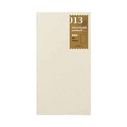 Traveler's Notebook Refill #13 Lightweight Blank Paper 128 pages