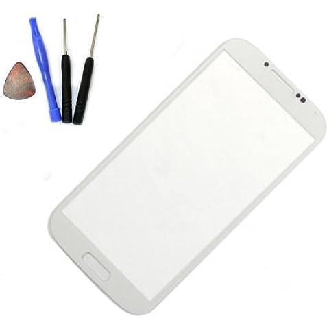 Pantalla Tactil Cristal Blanco para SAMSUNG GALAXY S4 i9500 i9505 + tools + cinta adhesiva