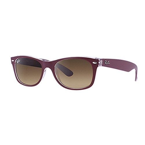 Ray Ban RB2132 New Wayfarer Sonnenbrille 52 mm, Rot (rot transparent 605485), 52 mm