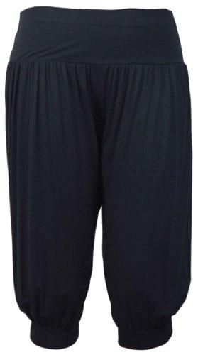 Plus Size 3/4 saffico tre quarti Alibaba ìwptp pantaloni da donna Harem 40-54 Nero