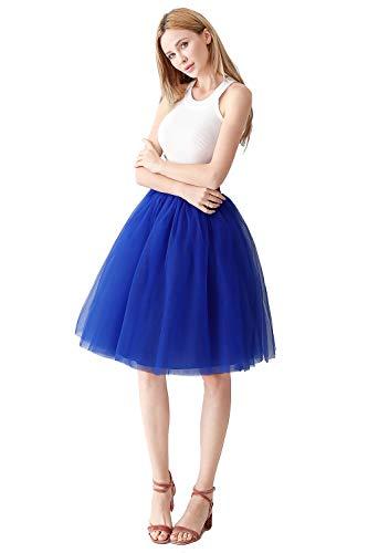 Ball Royal Kostüm - Prinzessin Tütü Rock tüllrock Unterrock für Hochzeit Royalblau OneSize
