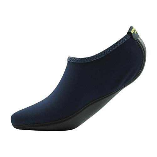 Home Slipper Hausschuhe Barfuß Wasserhaut Schuhe Aqua Neopren Socken für Strand Pool Schwimmen Surf Yoga Schnorcheln, Damen, Marineblau, US Women:7-9/Men:6.5-8 -