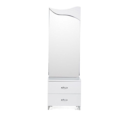@home by Nilkamal Vienna Dresser with Mirror (White)