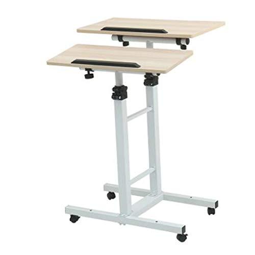 Preisvergleich Produktbild Laptopständer DD Höhenverstellbares Mehrzweckgerät Für Mobile Workstation Stand Up Computer Desk / Präsentationspult / Tragbarer Rednerpult -Werkbank (größe : Wood Color-Height 150cm)