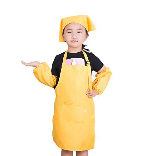 Unisex Kinder Kinder Schürze Set Malerei Spielen Schutzblechhut Sleeves für den Unterricht Art Malerei Aktivität Kochen ()