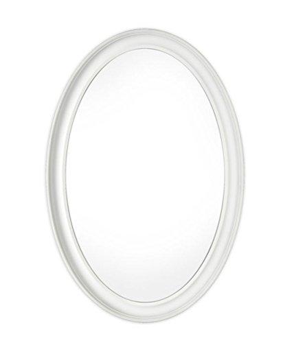 Innova Editions Mist Free - Espejo ovalado, 54x 79 cm, color blanco