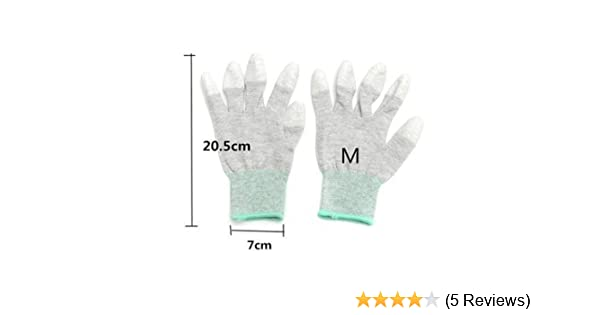 Anti Static Antiskid Gloves PC Computer ESD Electronic Working Labor Protection