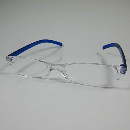 SCHILDGEN Einfache rahmenlose Lesebrille +2,5 blau für SIE & IHN Fertigbrille