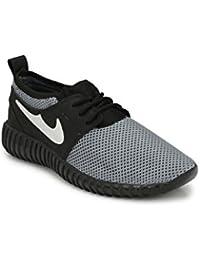 Zebx Comfortable Black Canvas Shoes For Mens