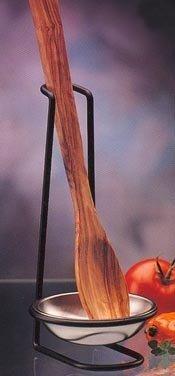 Prodyne 18/8 Stainless Steel Spoon Rest with Black Metal Frame by Prodyne -