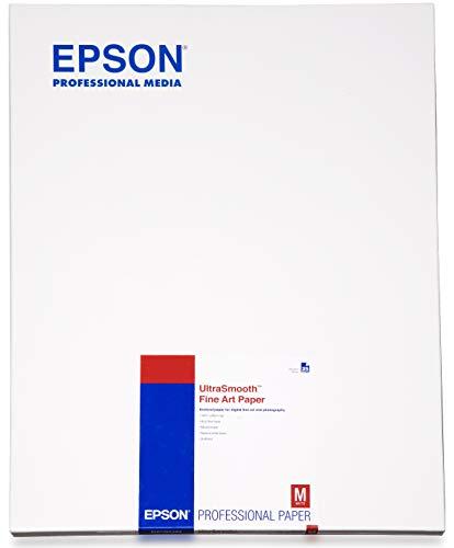 7800 Inkjet (Epson C13S042105 Ultra smooth fine art paper inkjet 325g/m2 A2 25 Blatt Pack)