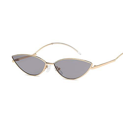 YUHANGH Cat Eye Vintage Luxus Gold Spiegel Sonnenbrille Für Frauen Metall Reflektierende Flache Linse Sonnenbrille Weibliche
