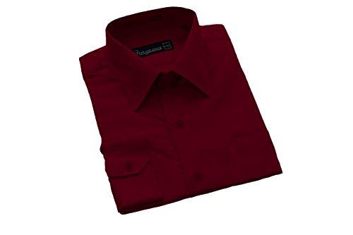 Formales Hemd, Jungen, 6 Monate - 16 Jahre, Rot - Burgunderrot