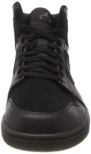 Nike Men''s Air Jordan 1 Mid Basketball Shoes, Black (Black/Dark Grey/Black 050), 10 UK 10 UK Img 3 Zoom