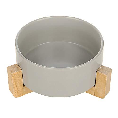 PORJH Katzen-Schüssel-Hundebewässerungs-Schüssel-Katzen-Kätzchen-Trinkwasser-Futternapf-Haustierschüssel-Waren,Gray
