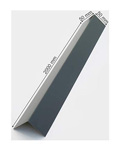 Alu Winkelblech 2000mm lang, Aluminium Blechwinkel, Kante, Winkel 90° Eckwinkel Anthrazit Grau RAL...
