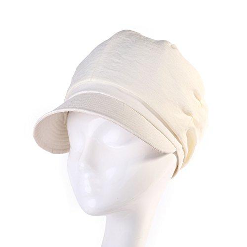 Mme beret d'été/Mode chapeau de soleil/Simple chapeau de soleil/chapeau De couleur crème