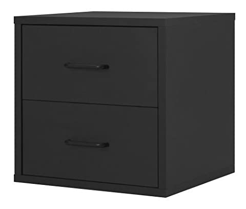 Foremost 327406 Modular 2-Drawer Cube Storage System, Black by