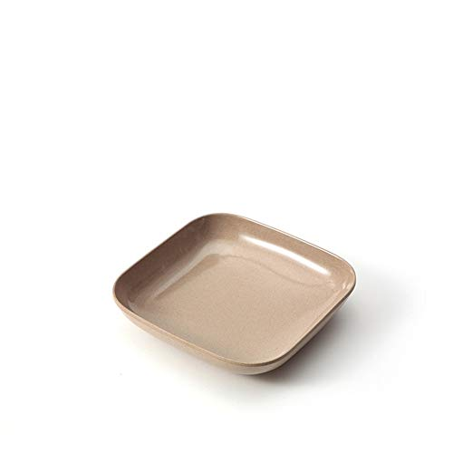 (MFHYSJ Kitchen Plastic Durable Creative Party Snack Round Snack Appetizer Tray, small Square Plate)